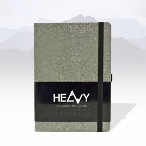 Heavy Stonepaper Notebook Silver