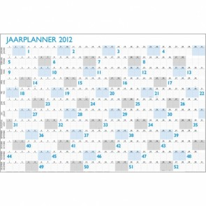 Jaarplanner in posterformaat