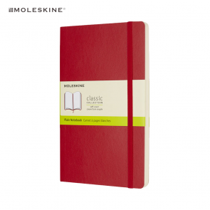 Moleskine Classic L Softcover Notitieboek Blanco Rood
