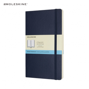 Moleskine Classic L Softcover Notitieboek Dotted Blauw